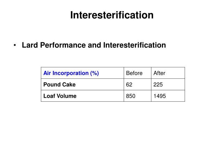 Interesterification