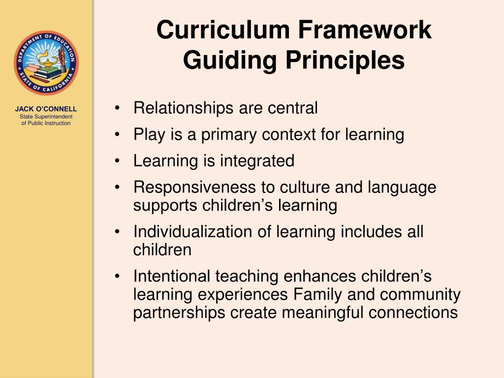 Curriculum Framework Guiding Principles
