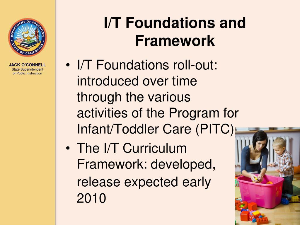 I/T Foundations and Framework