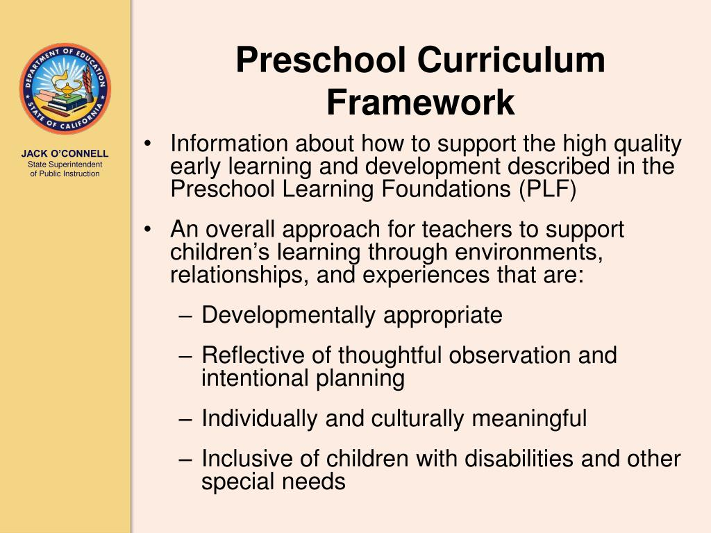 Preschool Curriculum Framework