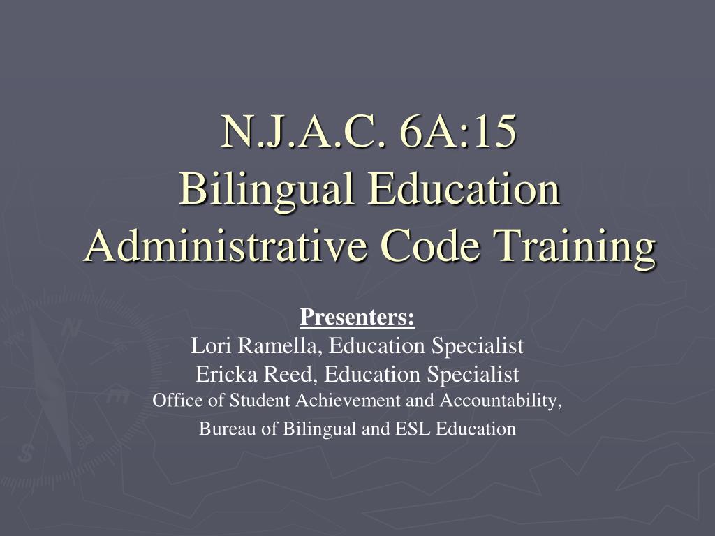 n j a c 6a 15 bilingual education administrative code training