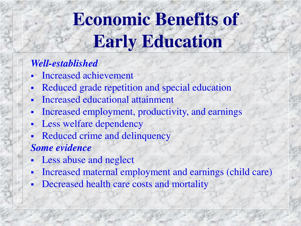 Economic Benefits of