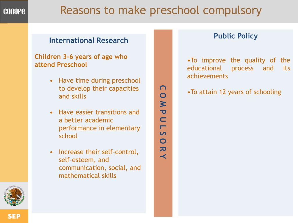 Reasons to make preschool compulsory