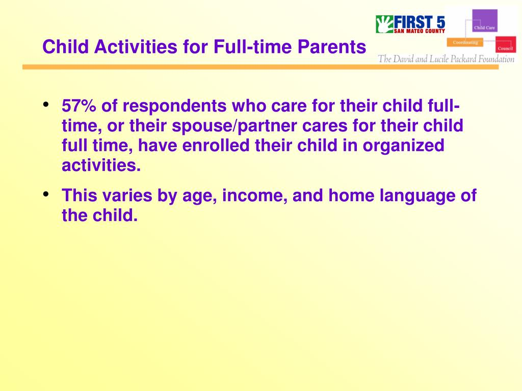 Child Activities for Full-time Parents