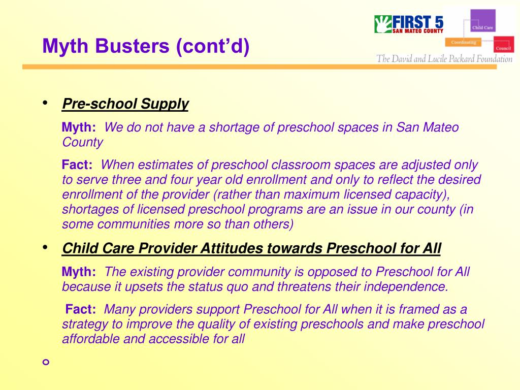 Myth Busters (cont'd)