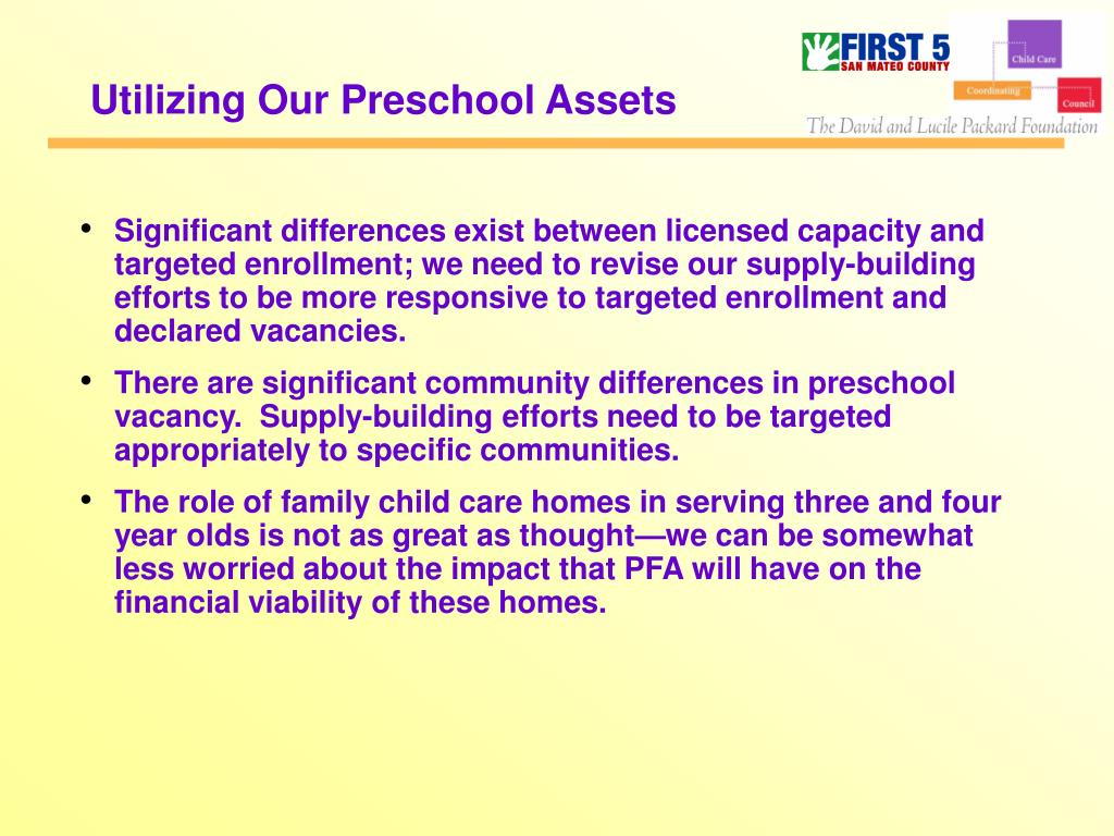 Utilizing Our Preschool Assets