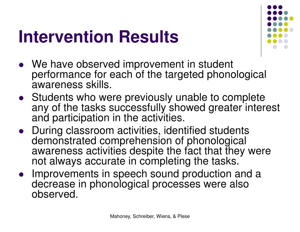 Intervention Results