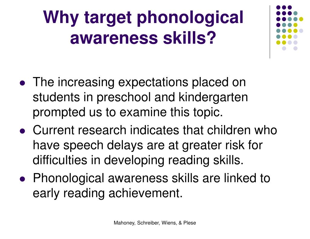 Why target phonological