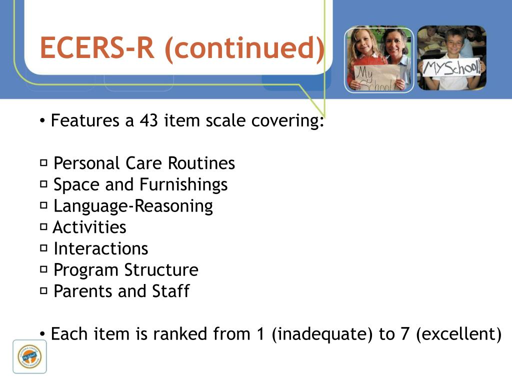 ECERS-R (continued)
