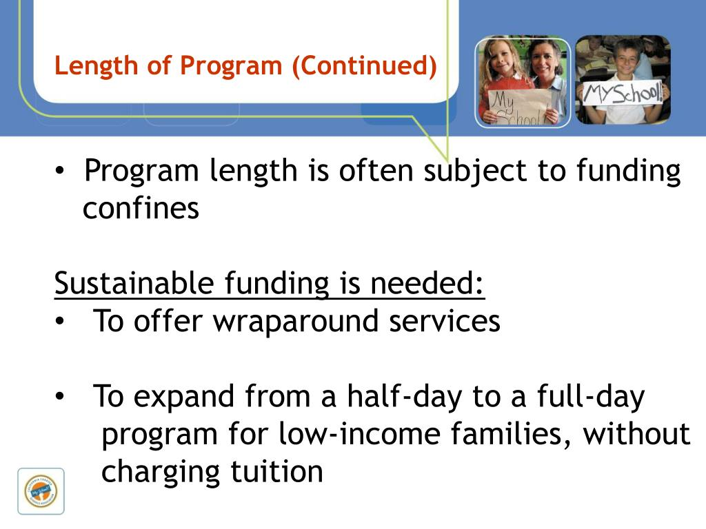 Length of Program (Continued)