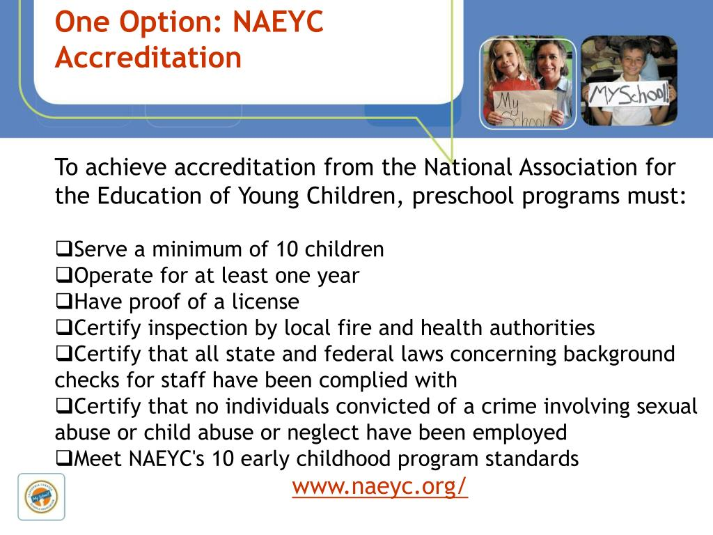 One Option: NAEYC