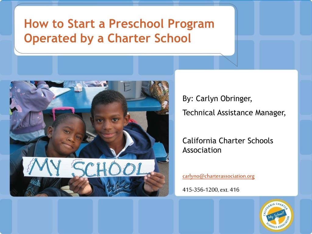 How to Start a Preschool Program Operated by a Charter School