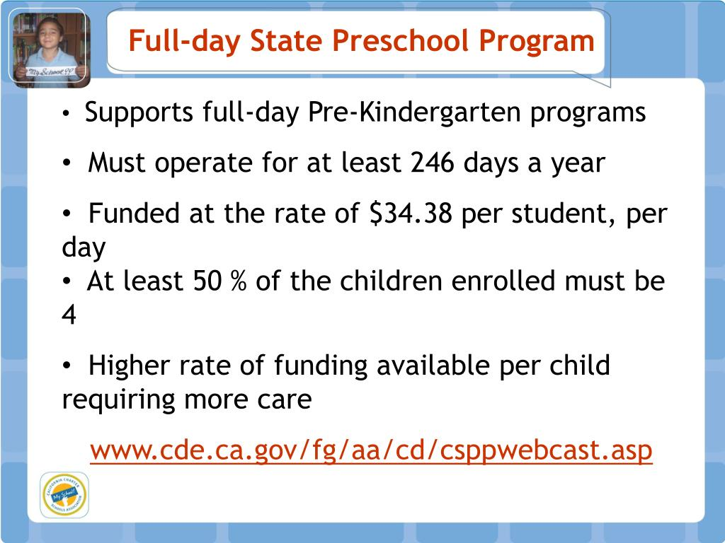 Full-day State Preschool Program
