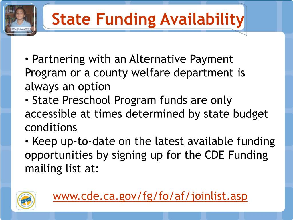 State Funding Availability
