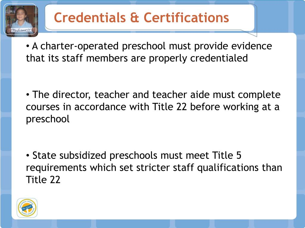 Credentials & Certifications