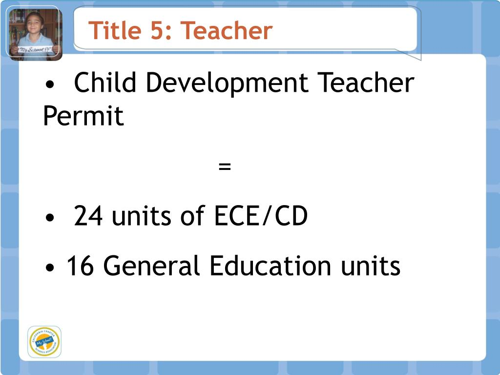Title 5: Teacher