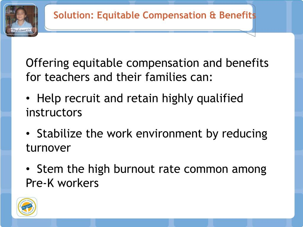 Solution: Equitable Compensation & Benefits