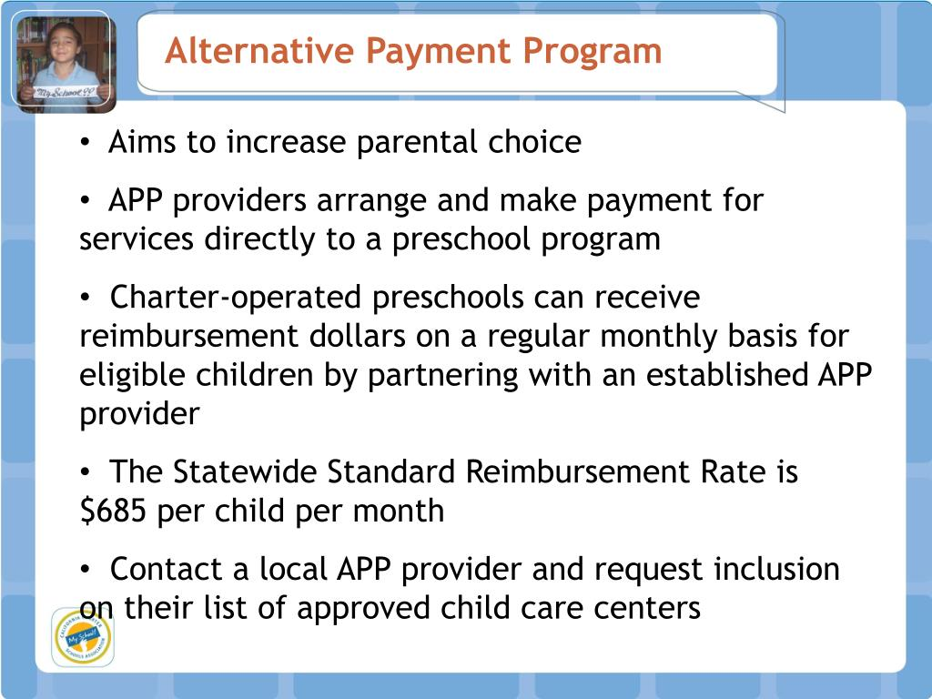 Alternative Payment Program