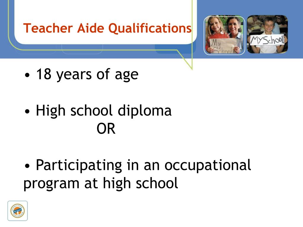 Teacher Aide Qualifications
