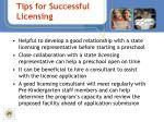 tips for successful licensing