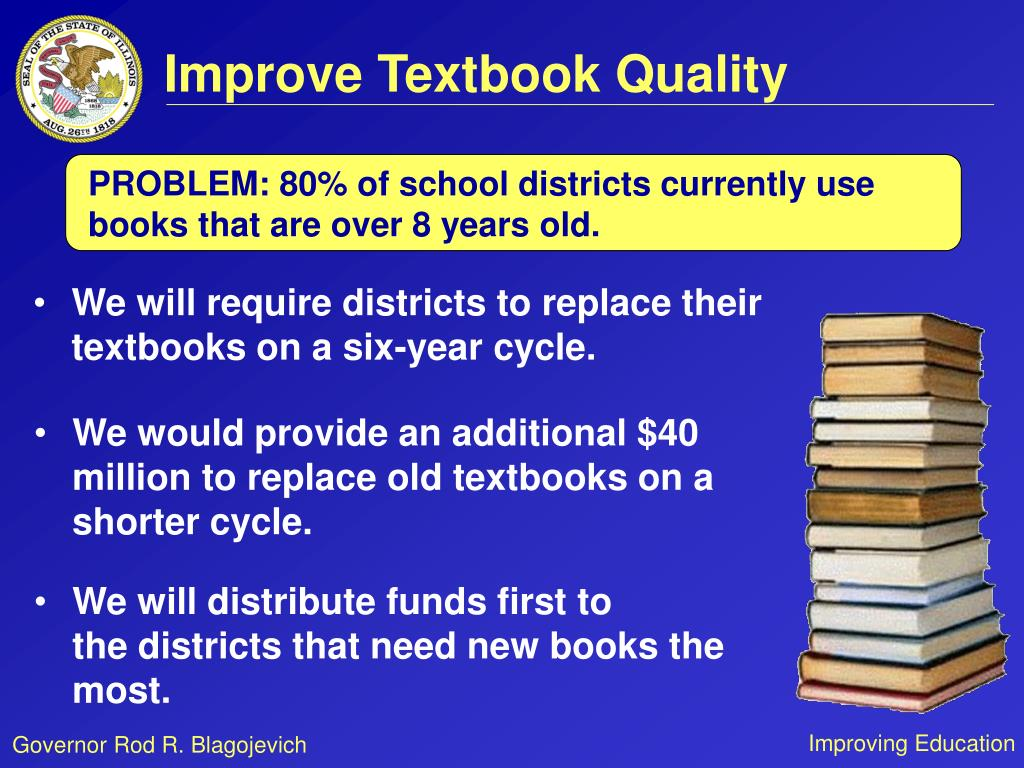 Improve Textbook Quality