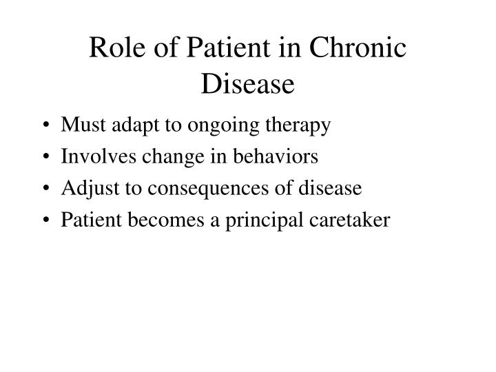 Role of Patient in Chronic Disease