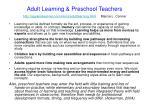 adult learning preschool teachers http agelesslearner com intros adultlearning html marcia l conner