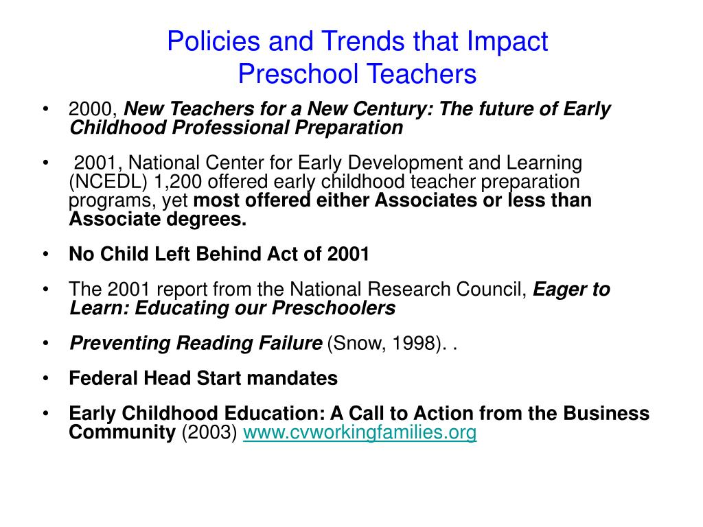 Policies and Trends that Impact
