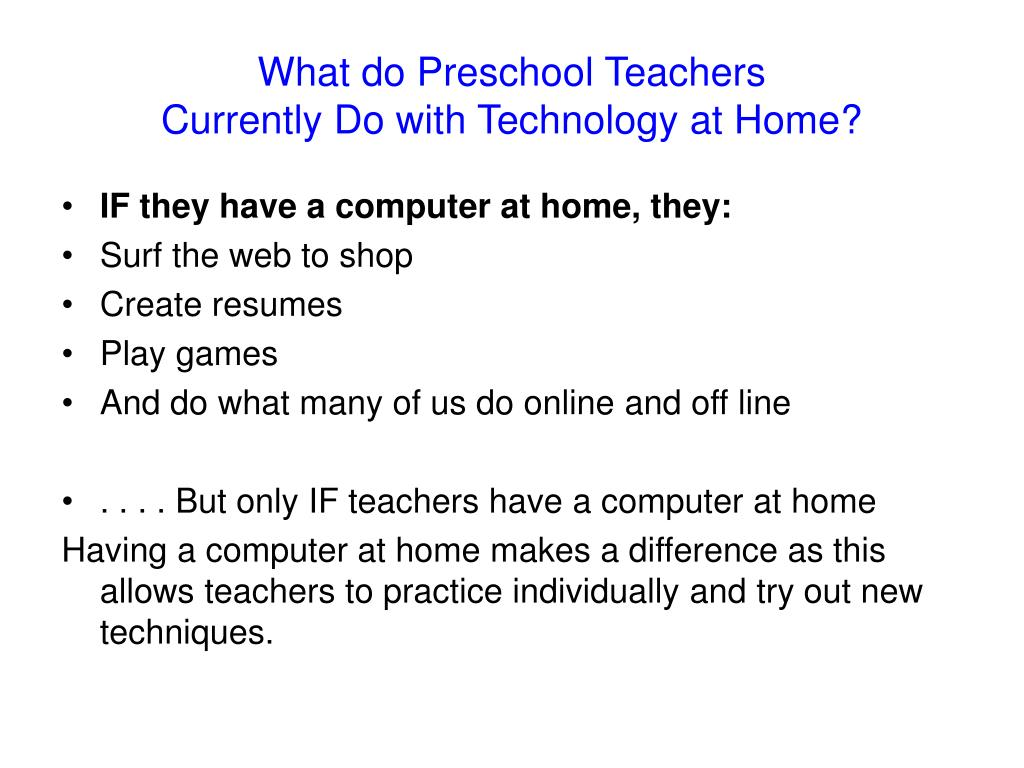 What do Preschool Teachers