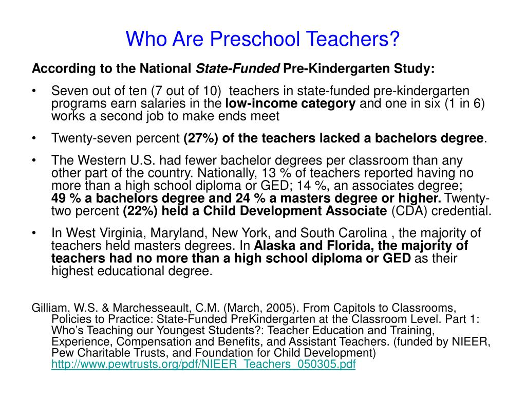 Who Are Preschool Teachers?