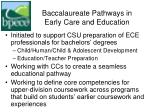 baccalaureate pathways in early care and education