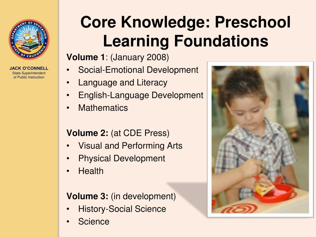 Core Knowledge: Preschool Learning Foundations