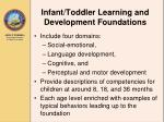 infant toddler learning and development foundations