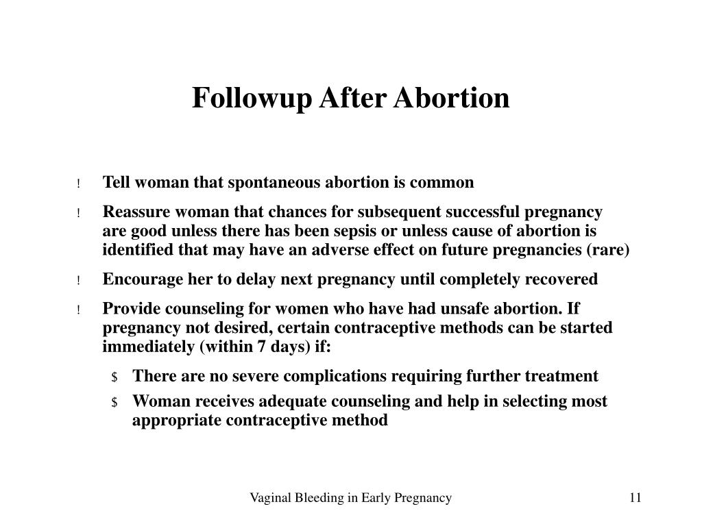 Followup After Abortion