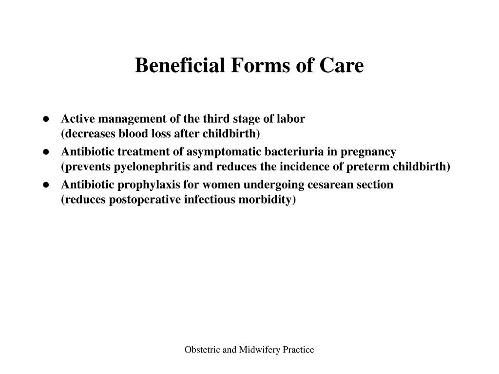 Beneficial Forms of Care