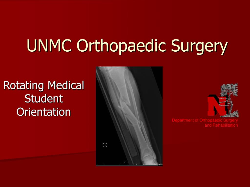 Department of Orthopaedic Surgery