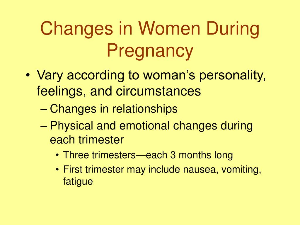 Changes in Women During Pregnancy