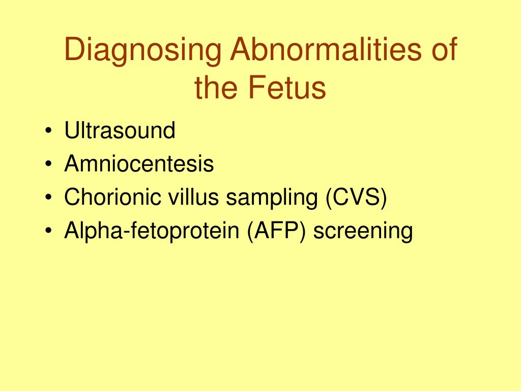 Diagnosing Abnormalities of the Fetus