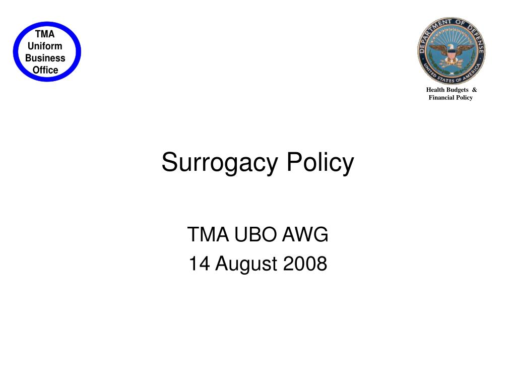 Surrogacy Policy