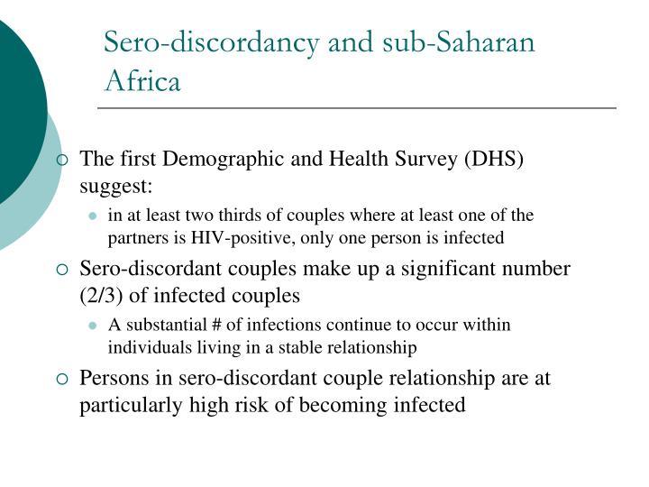 Sero-discordancy and sub-Saharan Africa