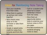ideas for reinforcing note taking