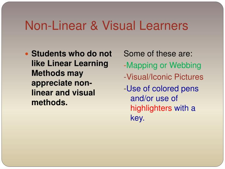 Non-Linear & Visual Learners