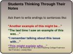 students thinking through their notes