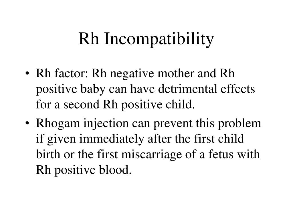Rh Incompatibility