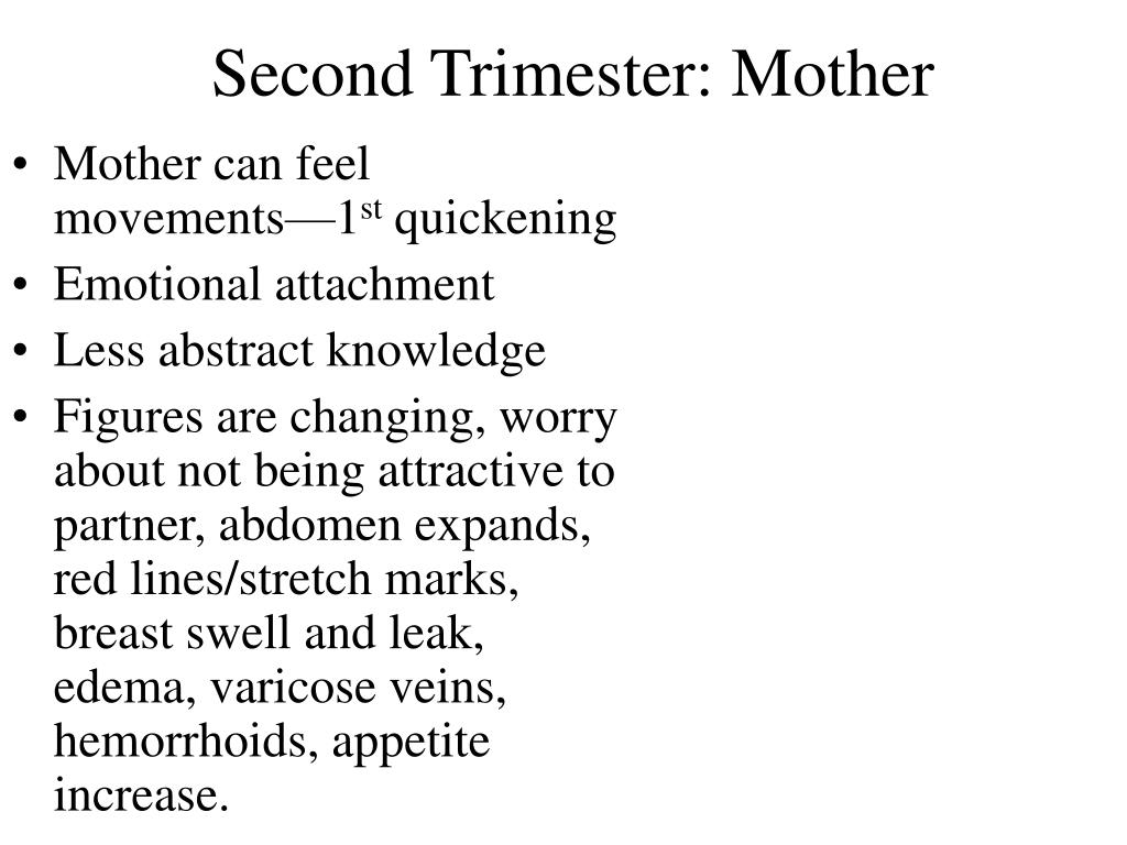 Second Trimester: Mother