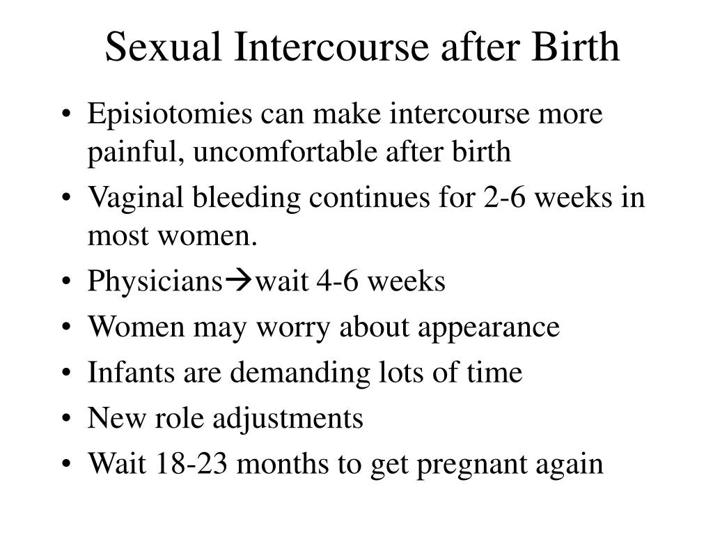 Sexual Intercourse after Birth