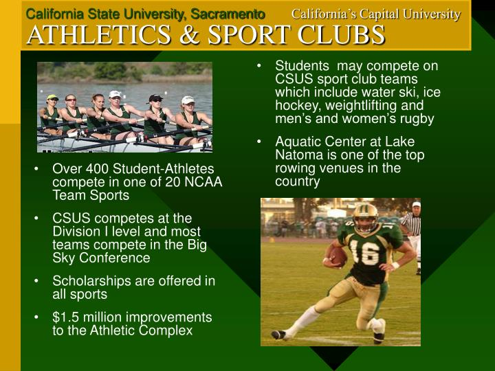 Over 400 Student-Athletes compete in one of 20 NCAA Team Sports