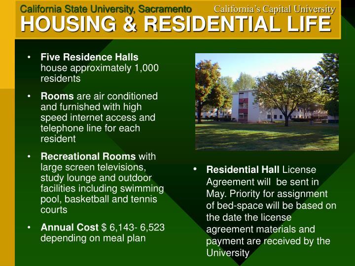 Five Residence Halls