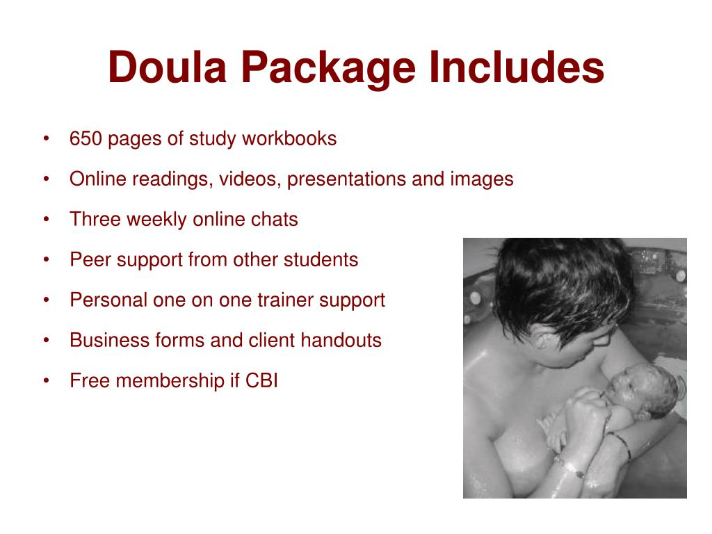 Doula Package Includes