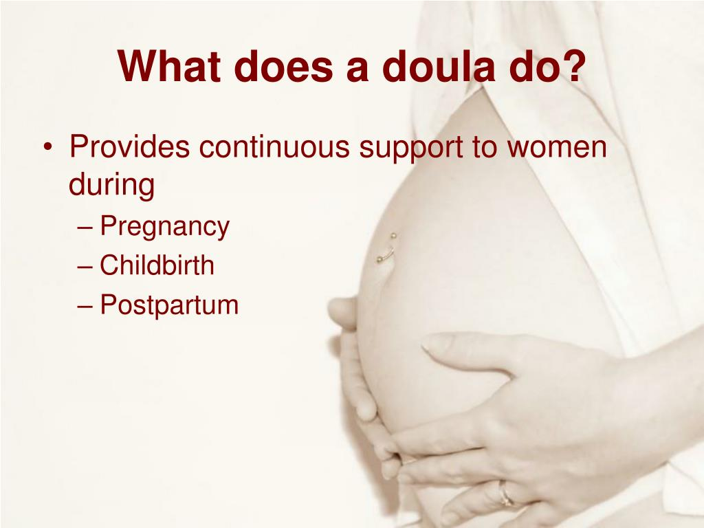 What does a doula do?